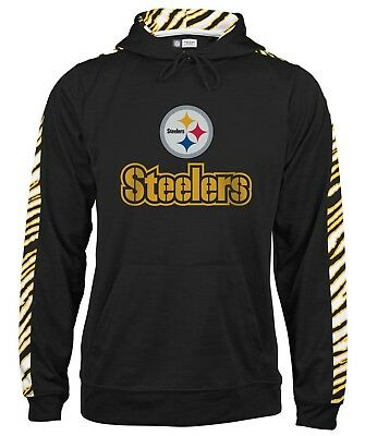 Pittsburgh Steelers NFL Men s Zebra Pullover Hooded Sweatshirt Jacket  S-XL e54fa4a3f