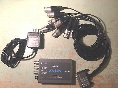 AJA HD10AM Dual Rate HD/SD 8 Chan AES Embedder/Dissembler w/Power Supply!