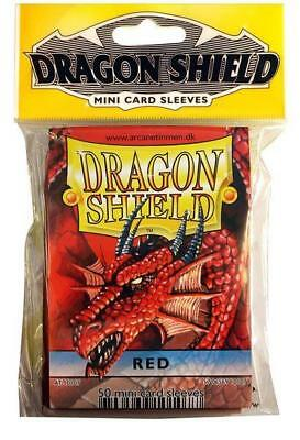 Fantasy Flight Card Protection Mini Sleeves - Red (10 Packs of 50) SW