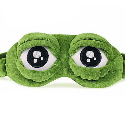 Frog Sad Frosch 3D Augenmaske Cover Sleeping Funny Rest Sleep Funny UUM