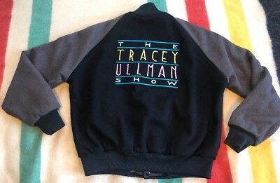THE TRACEY ULLMAN SHOW THE SIMPSONS Vintage TV Crew Jacket 80's RARE LG