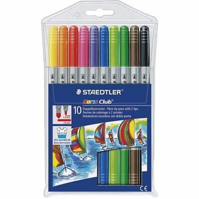 Staedtler Twin Tip Markers Thick & Thin 10 Pack misc