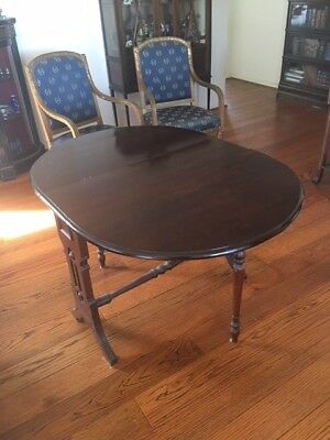 Table - antique wood Sutherland drop leaf side or dining table