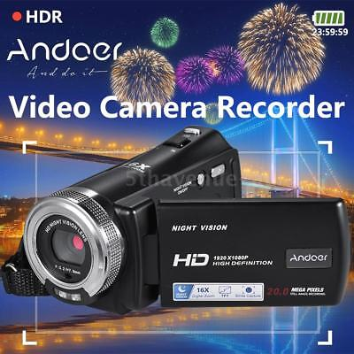 "FULL HD 1080P 20MP Night Vision 16X ZOOM 3""LCD Digital Video Camera DV Camcorder"