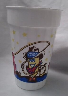 """Vintage Hostess Twinkie the Kid Plastic Cup White background  advertising 5.5"""""""