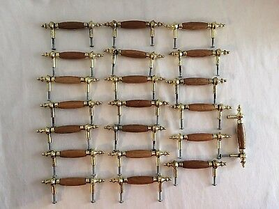 "Brass Wood Cabinet Drawer Dresser Handle Knob Pull Lot of 21 Vintage Style 5"" L"
