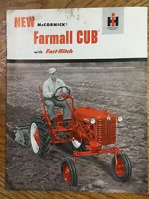 Vintage International Harvester IH McCormick Farmall Cub Tractor Brochure