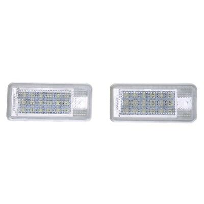 2 Stueck 18 SMD LED Kennzeichenbeleuchtung Lampe fuer Audi A3 A4 8E RS4 A6  O6C5