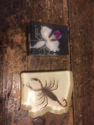 Orchid And Scorpion Paperweights!