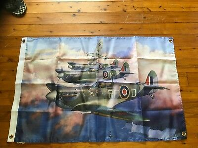 Royal airforce  raaf man cave flag poster Battle of Britain spitfire typhoon ww2