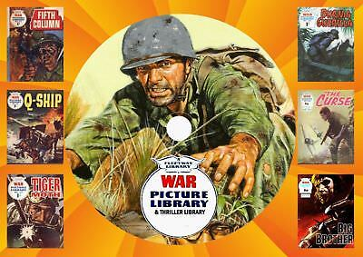 War & Thriller Picture Library Uk Comics On DVD Rom