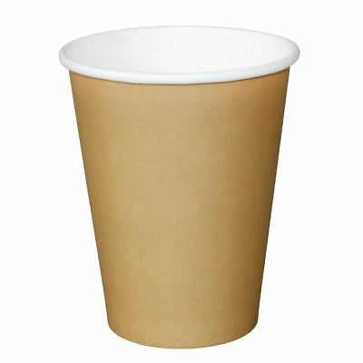 Olympia Disposable Brown Hot Cups Paper Drinks Party Restaurant Tableware 340ml