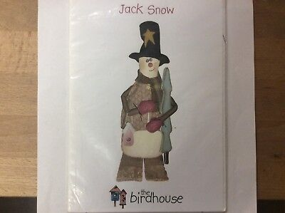 "DOLL PATTERN "" JACK SNOW"" a 60 cm SNOWMAN DOLL BY ""THE BIRDHOUSE"""