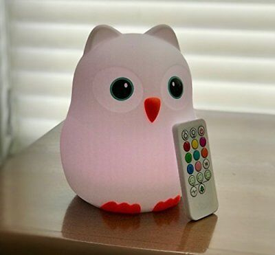 Nighty Night Owl Night Light for Kids & Toddlers Multi color LED+ remote control