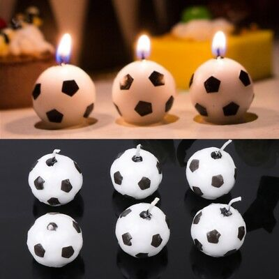 Soccer Ball Football Candles For Birthday Party Kid Supplies Decoration 6Pcs/Set