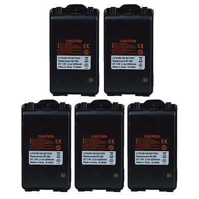 Lot 5 Li-ion Battery BP-265 for ICOM IC-F3003 IC-F4003 IC-F3101D IC-F4101D Radio