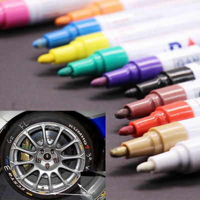 12 Multicolored Waterproof Rubber Permanent Paint Marker Pen Car Tyre Tread AU