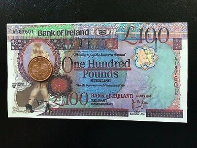Erotic Note Ireland 100 Pounds  with Holo Not legal Tender only f collector UNC