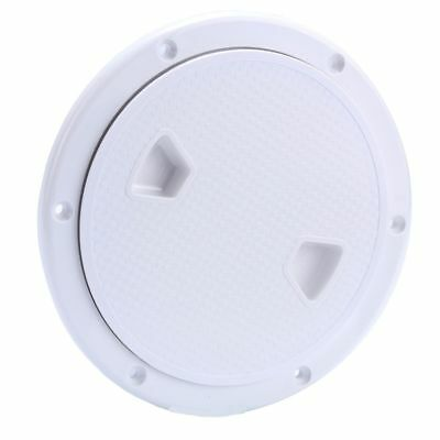 """6"""" Boat Round Non Slip Inspection Hatch Detachable Cover Deck Plate Access Cover"""