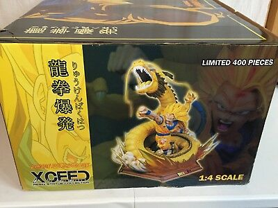 XCEED DBZ DragonBall Z Goku Dragon Fist Explosion Resin Statue 1/4 Scale *Box 2*