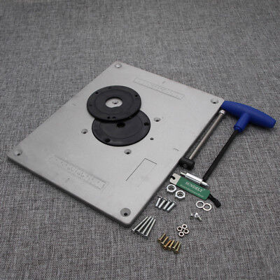 Aluminum router table insert plate 235x30x1cm for woodworking aluminium router table insert plate 235mmx300mmx10mm for woodworking bench keyboard keysfo Image collections