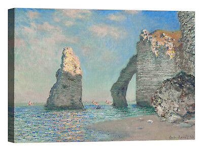 Claude Monet The Cliffs at Etretat Stampa su tela Canvas effetto dipinto