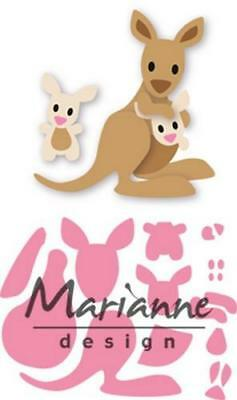 Marianne Design Collectables Eline`s kangaroo & baby COL1446 Stanzschablone