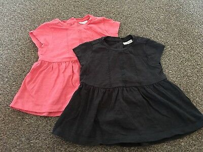2 X NEXT Baby Girl Tunic Tops 6-9 Months