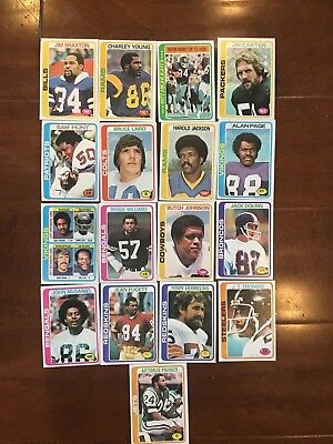 1978 Topps Chewing Gum  Football Trading Collector Cards  Lot of 17