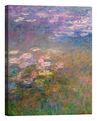 Claude Monet Water-Lilies Stampa su tela Canvas effetto dipinto