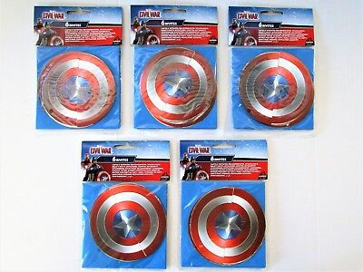 Pack of 30 Captain America Civil War Invitations - Marvel Party Invites