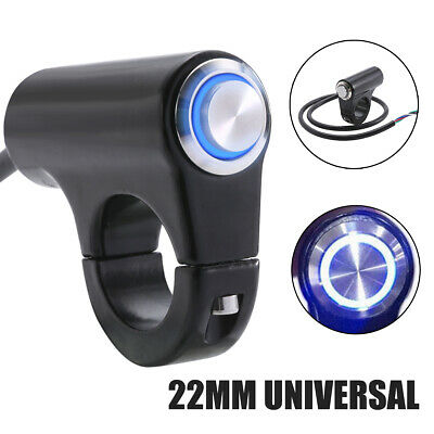 "7/8"" 22mm LED Motorcycle Handlebar Headlight Switch Fog Light ON OFF Waterproof"
