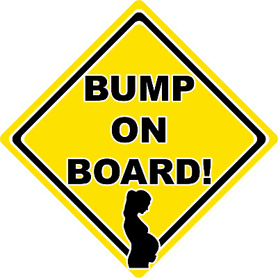 Bump on Board Sign Yellow Car Window Suction Safety Sign