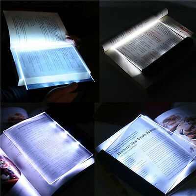 Portable LED Read Panel Light Book Reading Lamp Night Vision For Travel 1Pc