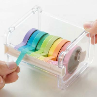 Practical Roll Holder Washi Masking Tape Dispenser Desktop Storage Box