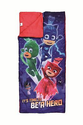 PJ Masks Kids Sleeping Bag 150cm x 65cm - With Drawstring Carry Bag