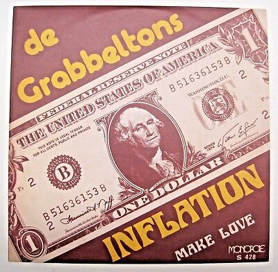 """De Grabbeltons Inflation/ Make Love 7"""" 2018 limited reissue 300 only  FUZZ PSYCH"""