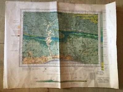 Vintage OS Geology map Brighton  sheet 318 1947