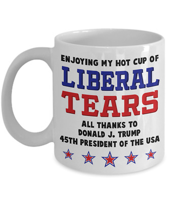 45th President Donald Trump Coffee Mug Funny Cup 11 oz Liberal Stears Mug Gag M4