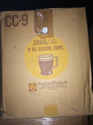 1 Carton - Sweetheart CC-9 9 oz Casual Cups - 2000 per Carton