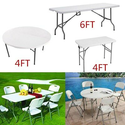 4Ft 5Ft 6Ft Heavy Duty Folding Catering Camping Trestle Picnic Party Paste Table