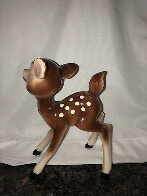 "OLD Vintage Antique BAMBI or Christmas Reindeer Figurine ~Bone China 7"" Tall"