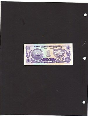 Nicaragua Mint-Crisp One Centavos Banknote Note Currency Paper Money