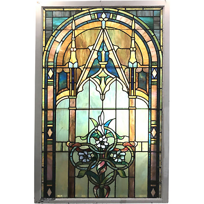 19th / 20th c Large Stained Glass Window