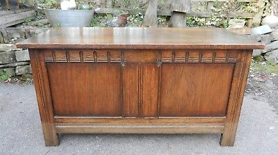 Old/vintage Oak Bedding Box/chest - Good Condition