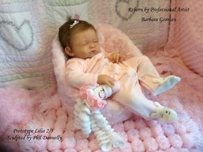 Reborn Doll Kit NOT FINISHED DOLL Lilia Realistic Fake Baby girl NOT SILICONE