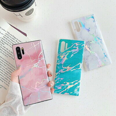 Marble Iridescent Holographic Holo Phone Case Cover For Samsung S9 Note 8 Note 9