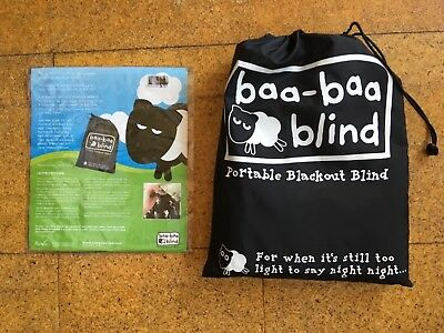 Children's Baby Travel Blackout Blind; Baa-Baa Portable Black Out Blind