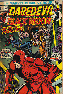 Daredevil #104 Oct 1973 with Black Widow Marvel Comics Kraven appears VG-
