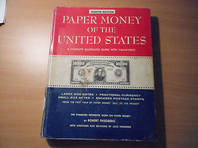 Book-Paper Money Of The United States-Robert Friedberg 8th Edition